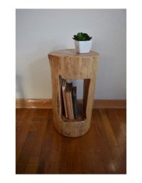 Tree Stump Side Table Tree Stump End by ...