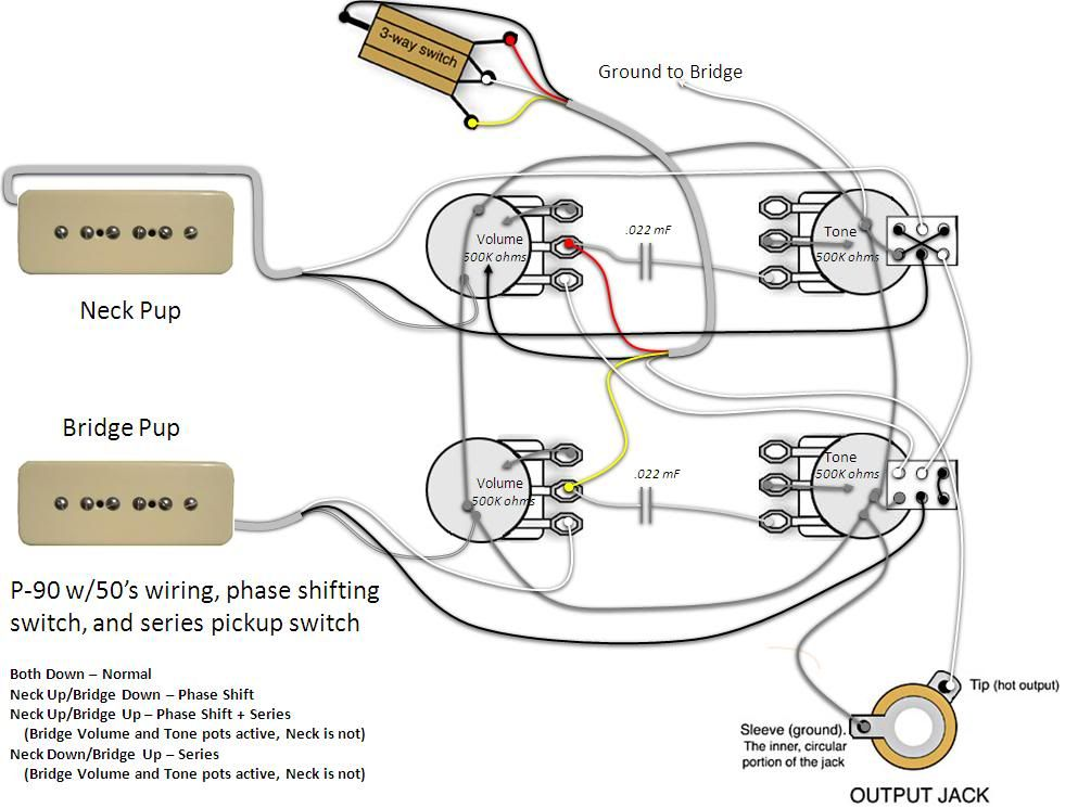 gibson les paul p90 wiring diagram 2009 nissan titan ignition pickup diagrams additionally junior ... | amps and effects