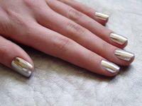 Gel Natural Nails Nail Polish Color Silver | Nail Art ...