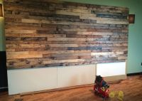 How to Distress Wood & Create a Faux Pallet Wall | Time ...