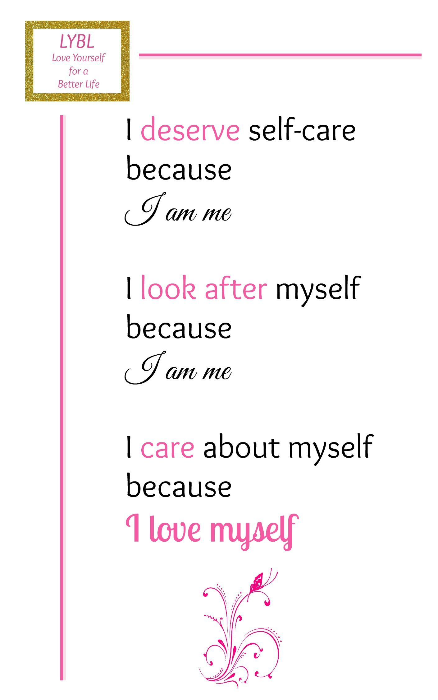 Self Care Plan Worksheet
