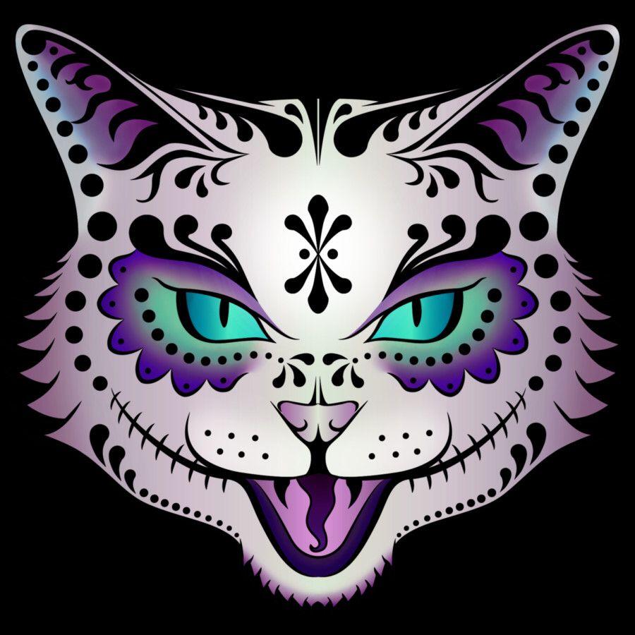 Cat Sugar Skull Tatto  Tattoo Ideas  Pinterest  Tatto