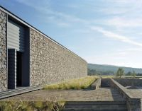Modern Architecture Club House Stone Wall The design of ...