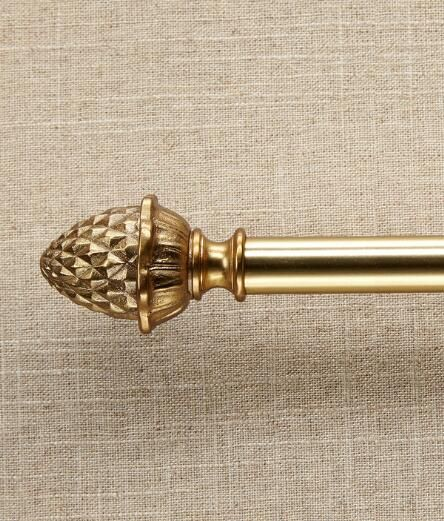 Sheffield Pineapple Curtain Rod Finials Country Curtains® W
