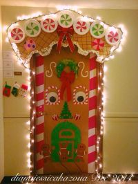Gingerbread House Door Decorating! | gingerbread school ...