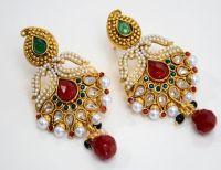 Precious Mango and Pearl Earring - Indian Imitation ...
