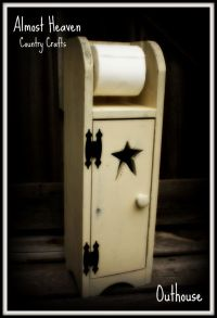Primitive Toilet Paper Holder and Cabinet by ...
