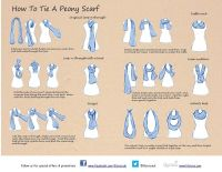 tie a scarf |  Hacks | Pinterest | Scarves, Scarf knots ...