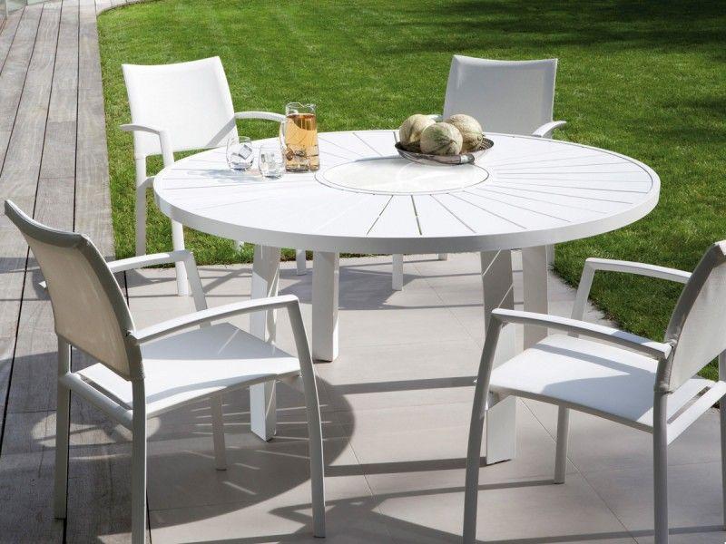 Table de jardin ronde en aluminium ASPEN JATI  KEBON 992  Naos interior design  Pinterest