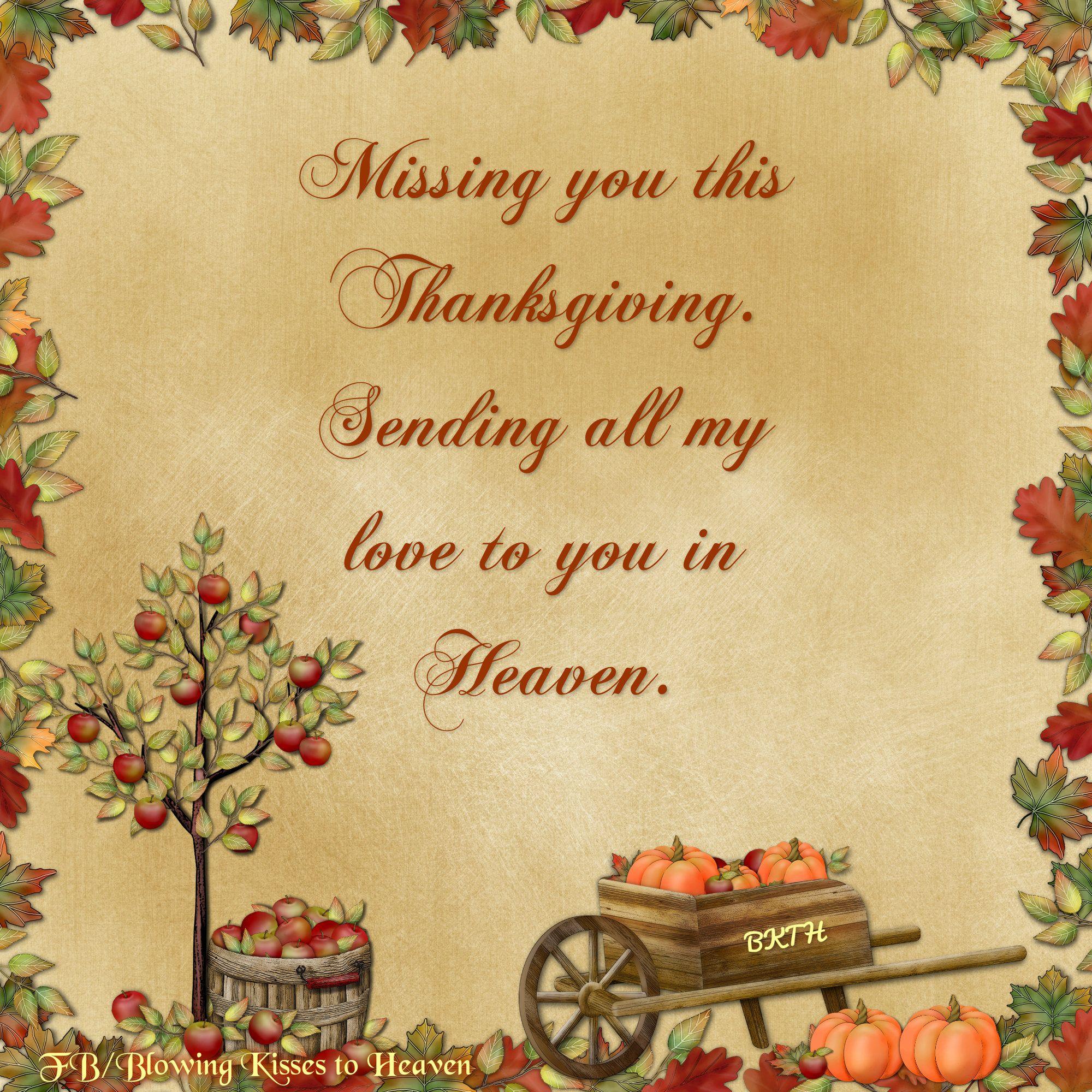 Thanksgiving Heaven Heaven Thinking You