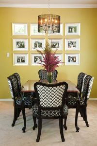 Antique dining table and chairs, transformed with new ...