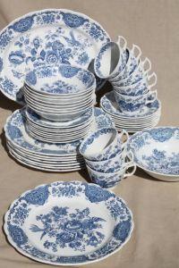 Ridgway Windsor blue & white vintage china dishes ...