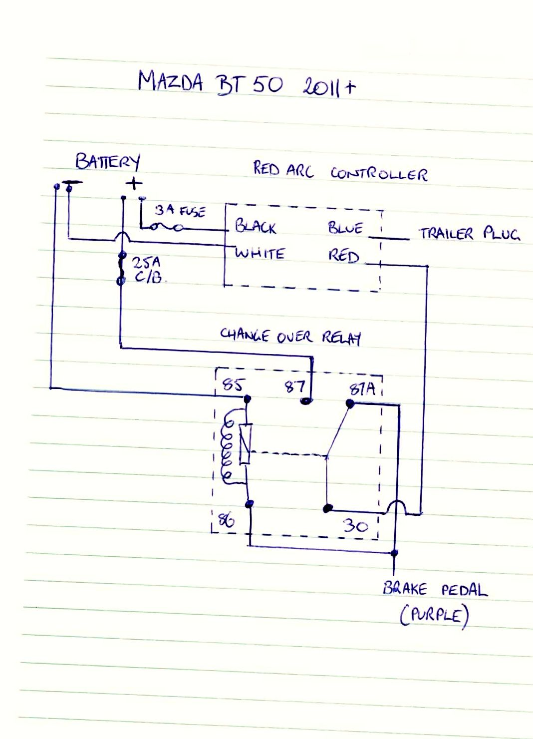 BT 50 Brake Controller Wiring Diagram Ute 4x4 Project