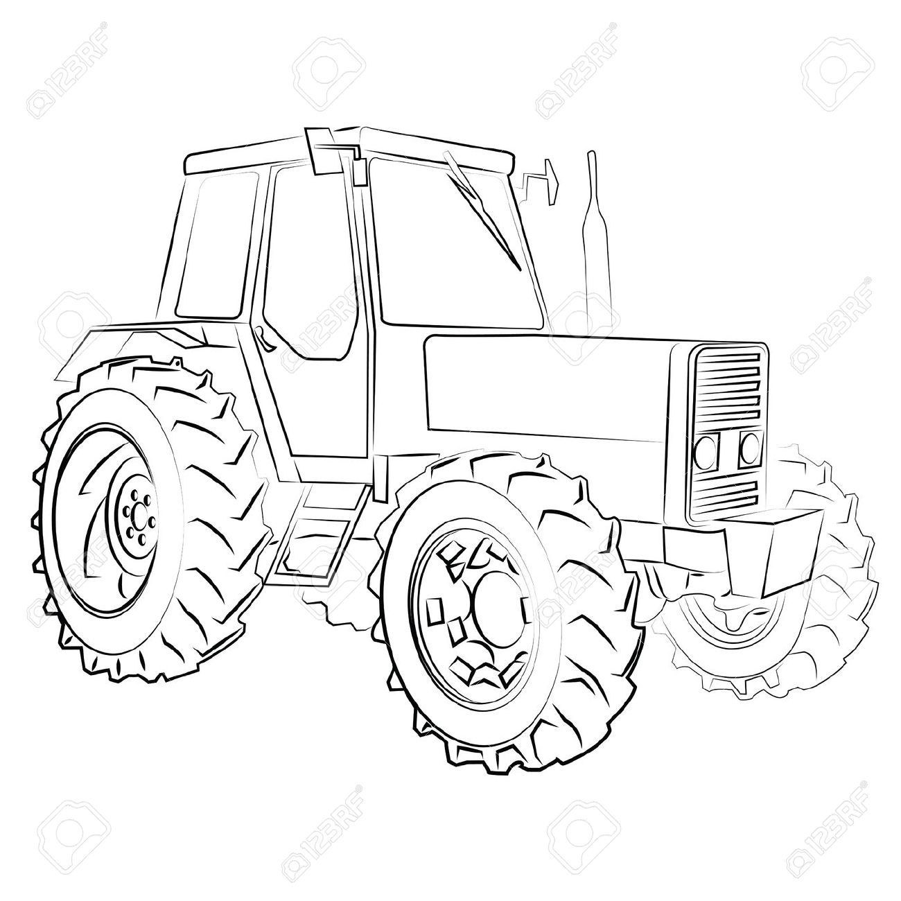 The 25 Best Tractor Drawing Ideas