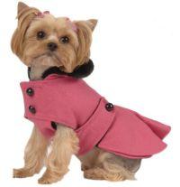 Pet Dog Clothing Designer Pink Pleated Coat Small Dog New ...