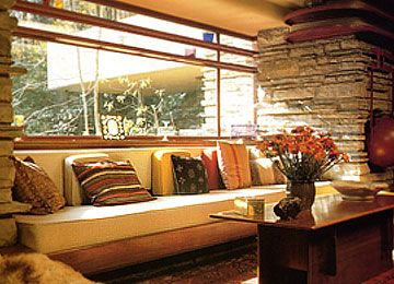 Falling Water Live Wallpaper Loungeroom Of Falling Water Frank Lloyd Wright House A