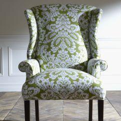 Damask Accent Chair Cross Legged Green  Like A Walk In The Garden Freshen Up