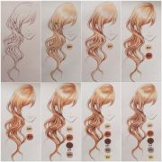 coloring hair with copics tools