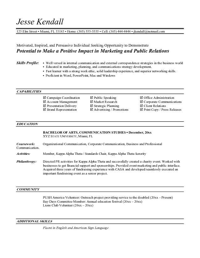 Resume Objective For Entry Level Position Professional Academic