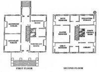 Clarke House floor plan Greek Revival