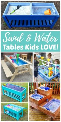 Sand and Water Tables Kids LOVE! | Kids sand, Outdoor play ...