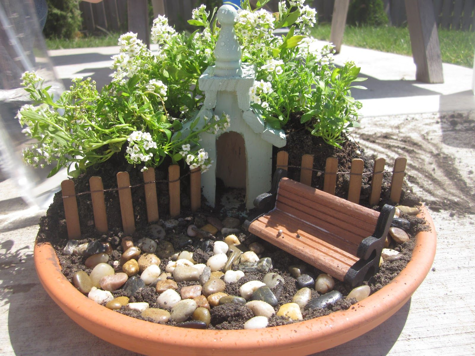 Miiniature Fairy Gardens The Set Up Of THIS Easter Garden We