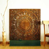 Wall Decor Teak Lotus Panel Thai home decor kanthaidecor ...
