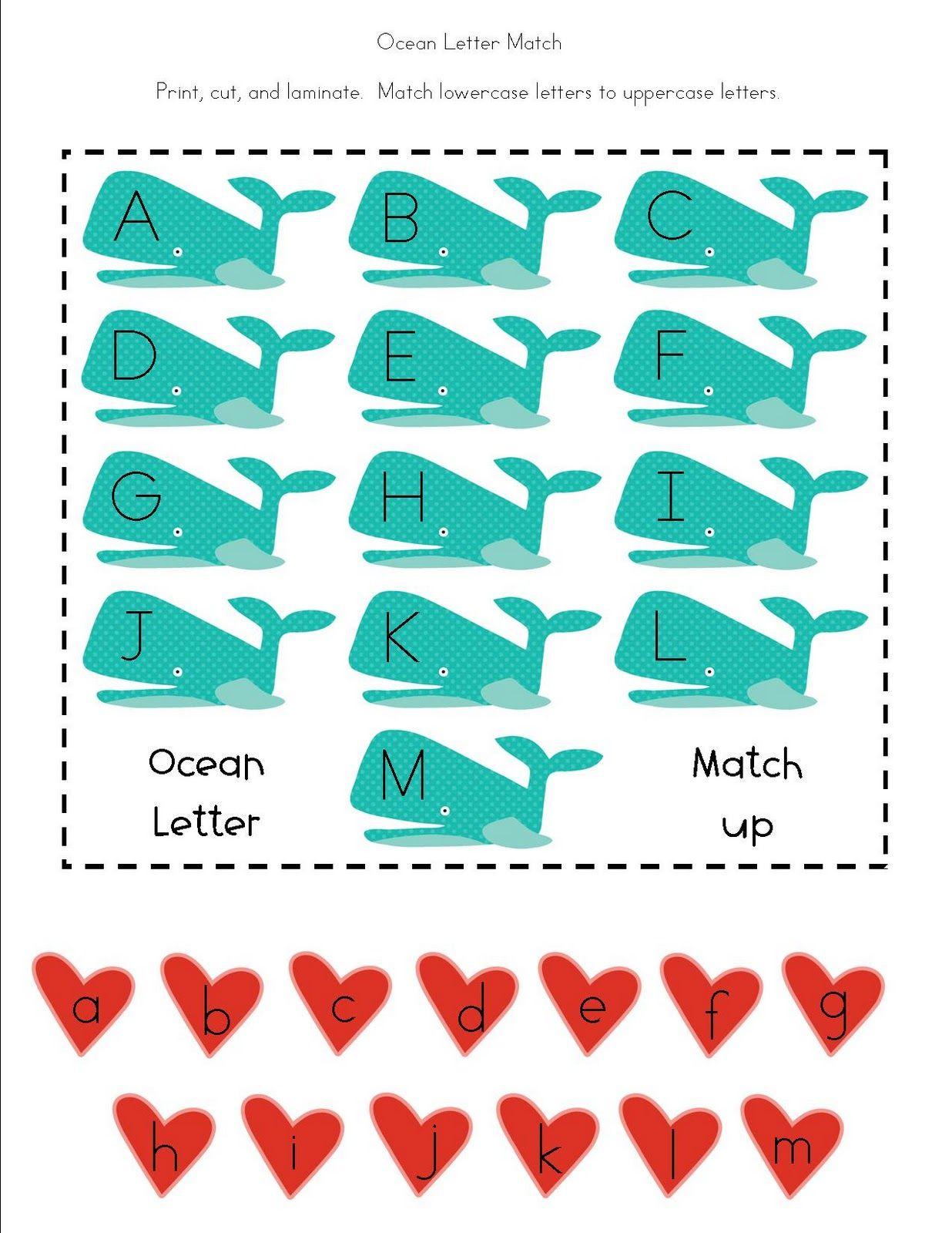 Free Printable Ocean Themed Activities For Preschoolers
