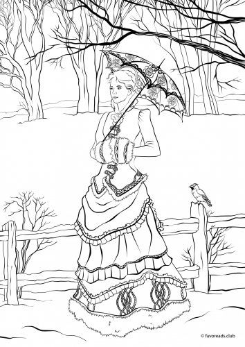 Victorian Winter Fashion from Exclusive Victorian Coloring