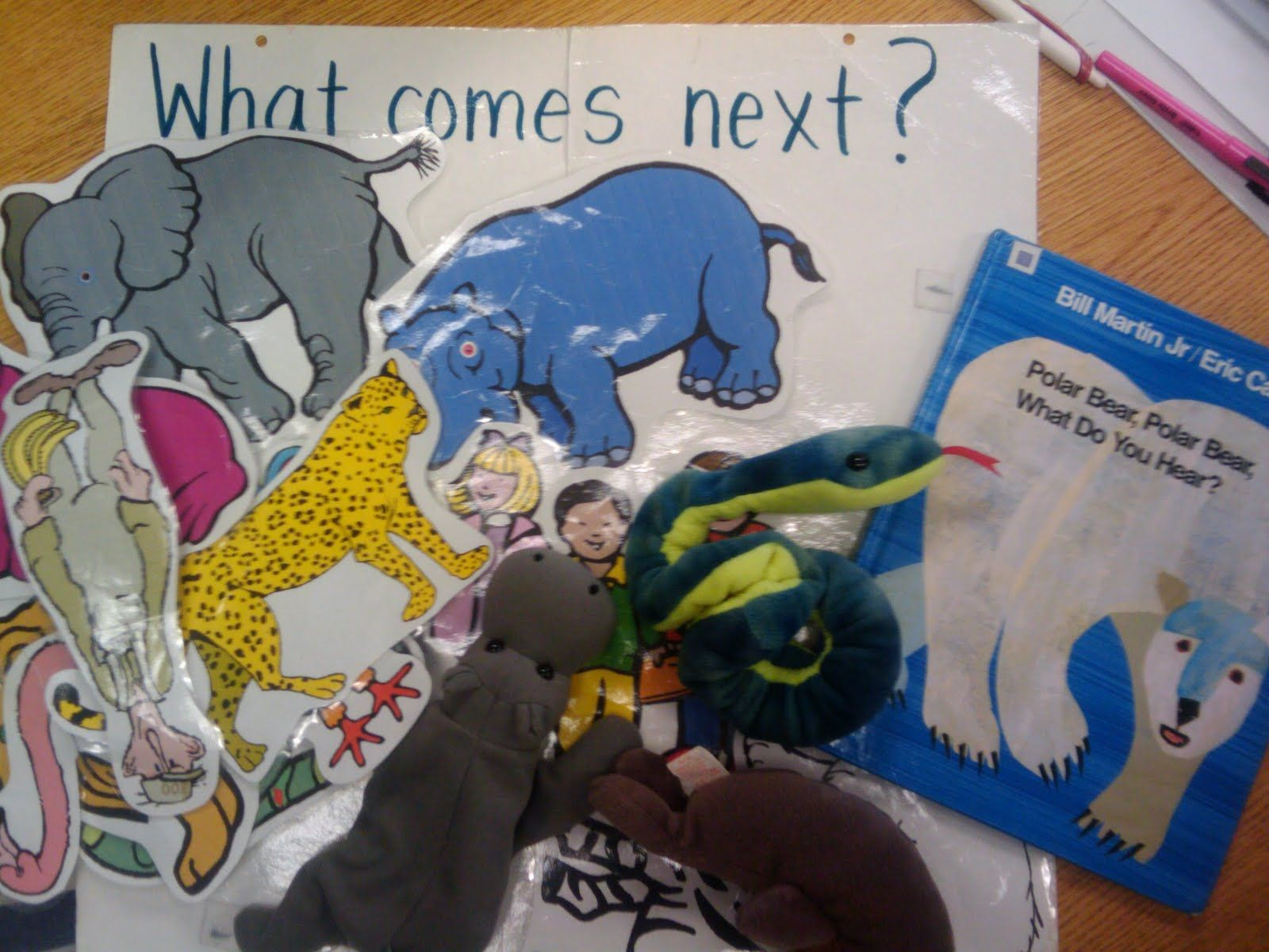 Polar You Polar Do What Hear Sequencing Cards Bear Bear