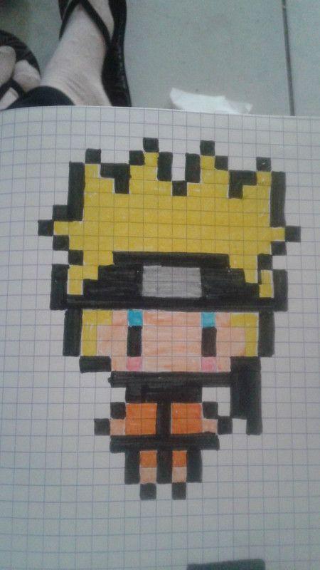 Naruto Pixel Art Pinterest Perles Hama Hama Et Dessin Carreau