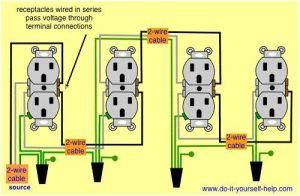 wiring diagram receptacles in series | electrical