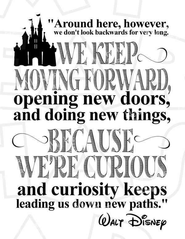 Keep moving forward Walt Disney quote INSTANT DOWNLOAD