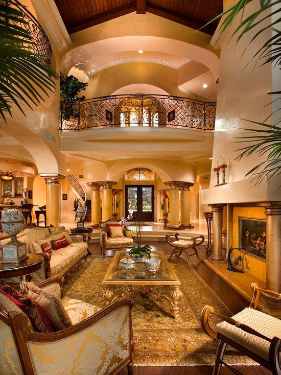 20 Luxurious Design Of A Mediterranean Living Room Fireplaces
