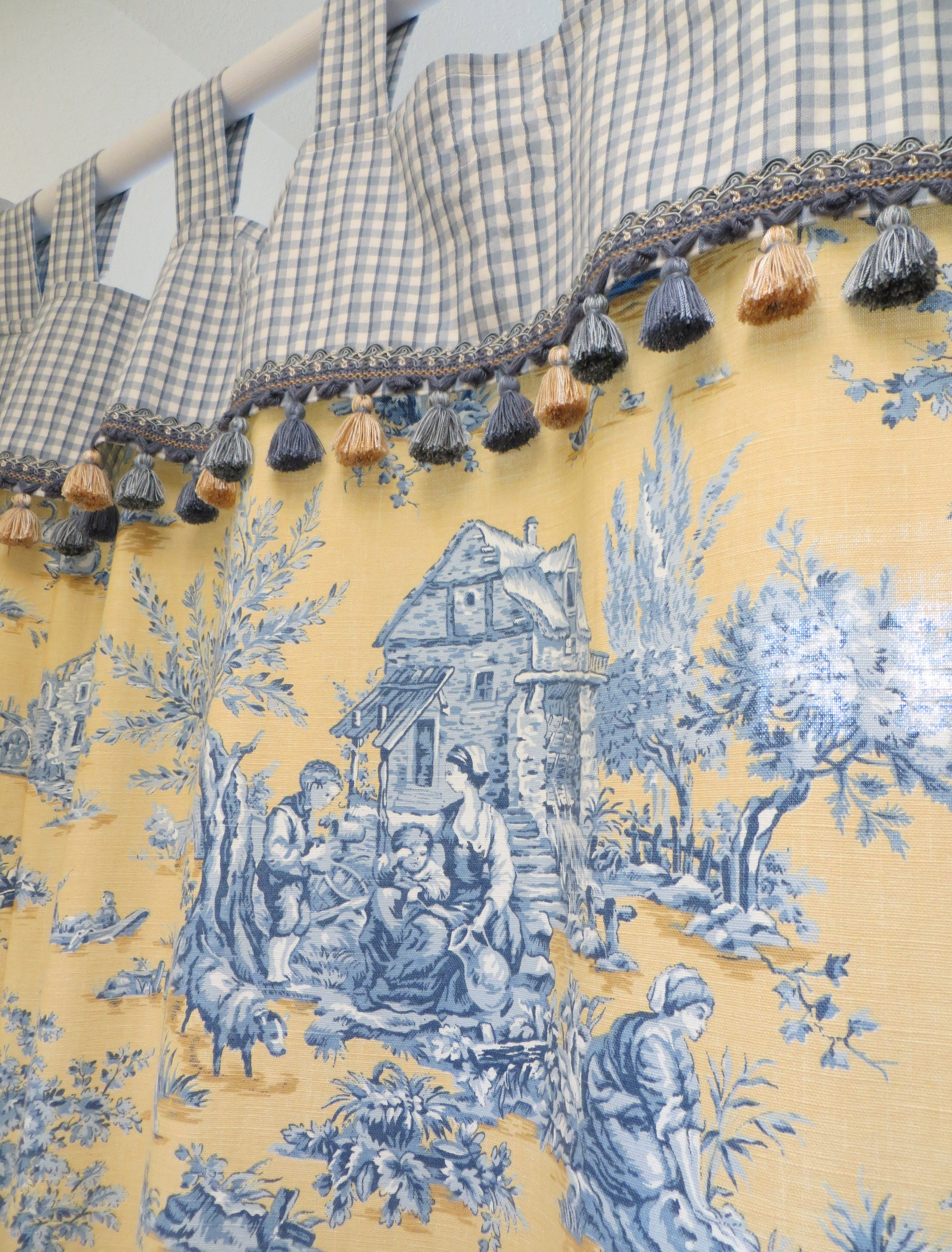 kitchen curtain fabric for sale rugs custom made french toile shower curtains