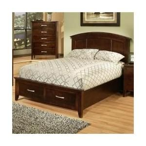 Ayca Furniture 280220 Firefky Dark Bed Complete Queen Size