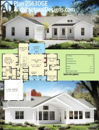 Plan 25630GE: One Story Farmhouse Plan | Farmhouse plans ...
