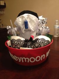 Honeymoon gift basket. Wedding gift. Bridesmaid wedding