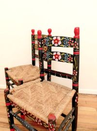 Mexican Folk Art Chairs Hand Painted Floral by ...