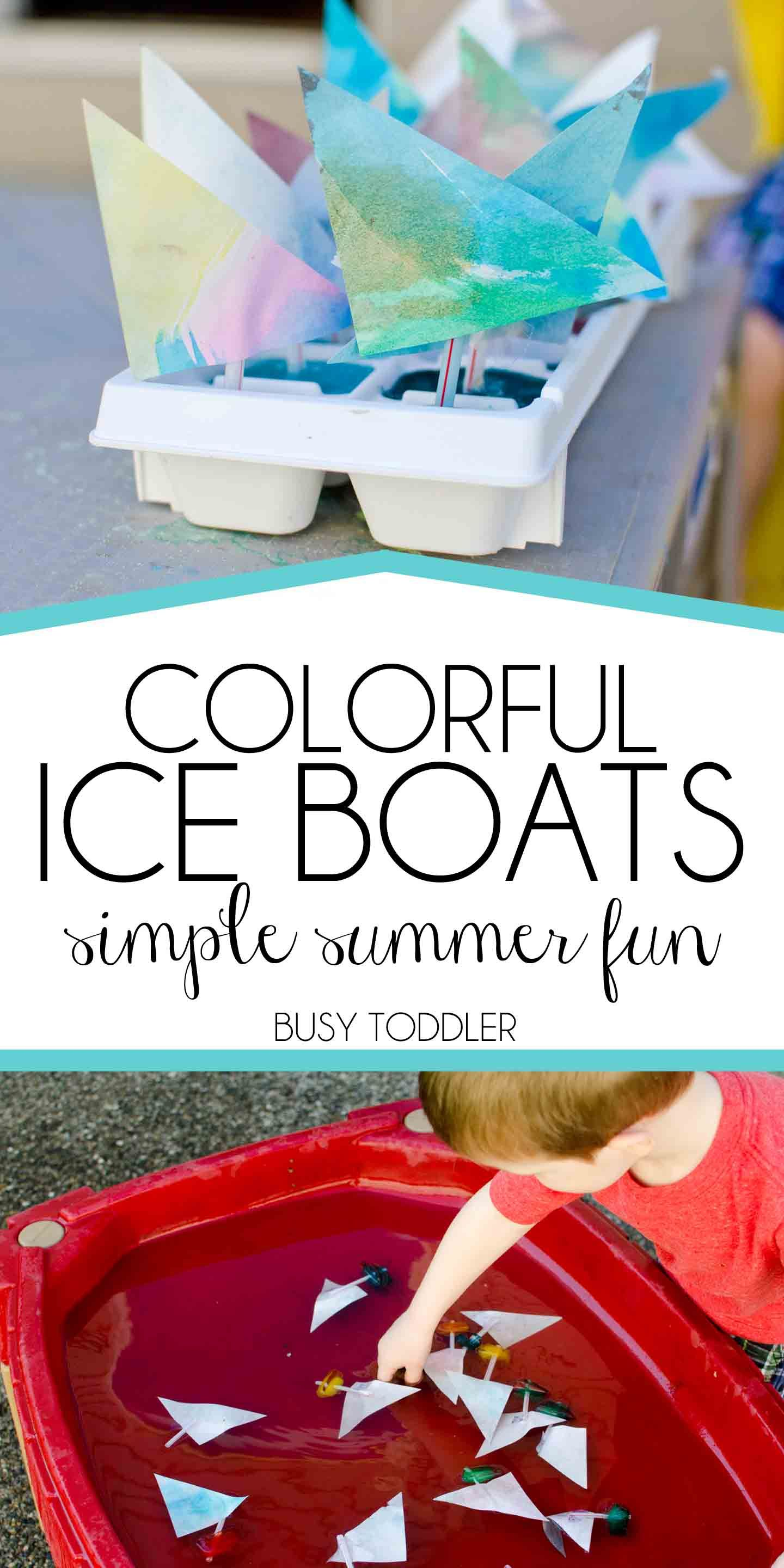Colorful Ice Boats