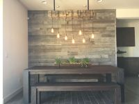 Reclaimed wood accent wall. Wood from RECwood Planks in ...