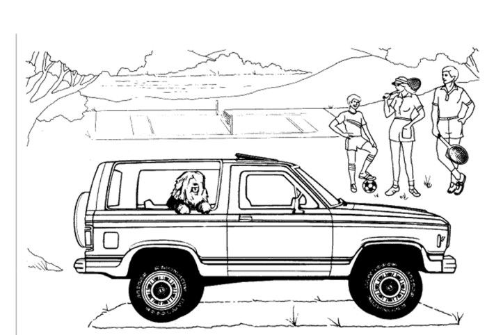 Ford Explorer Coloring Pages