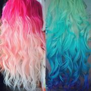 pastel and bright hair colors inspirations