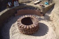 Homemade Fire Pit With Bricks | Fire Pit Landscaping Ideas ...