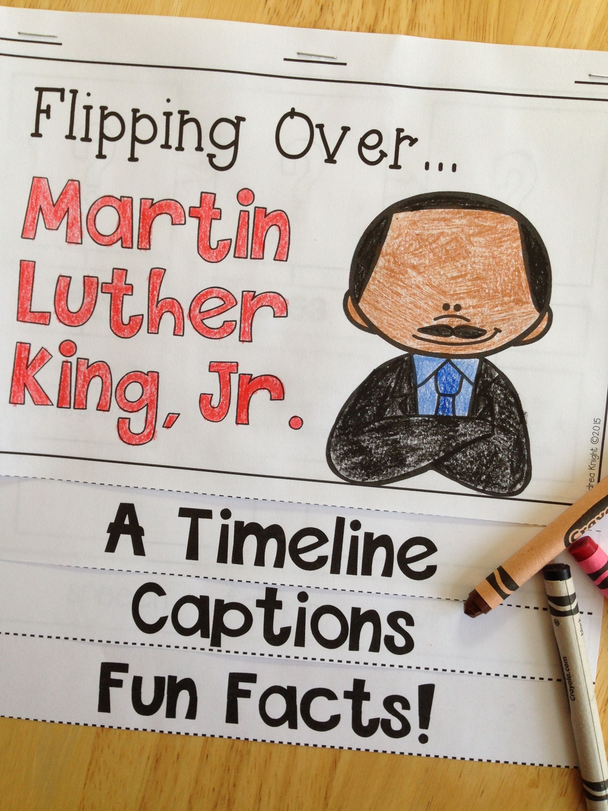 Flipping Over Mlk Jr An Informational Flip Book For Grades 1 2