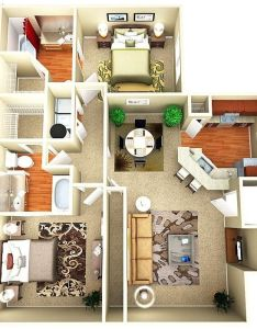 Apartment condo floor plans bedroom and town also rh pinterest