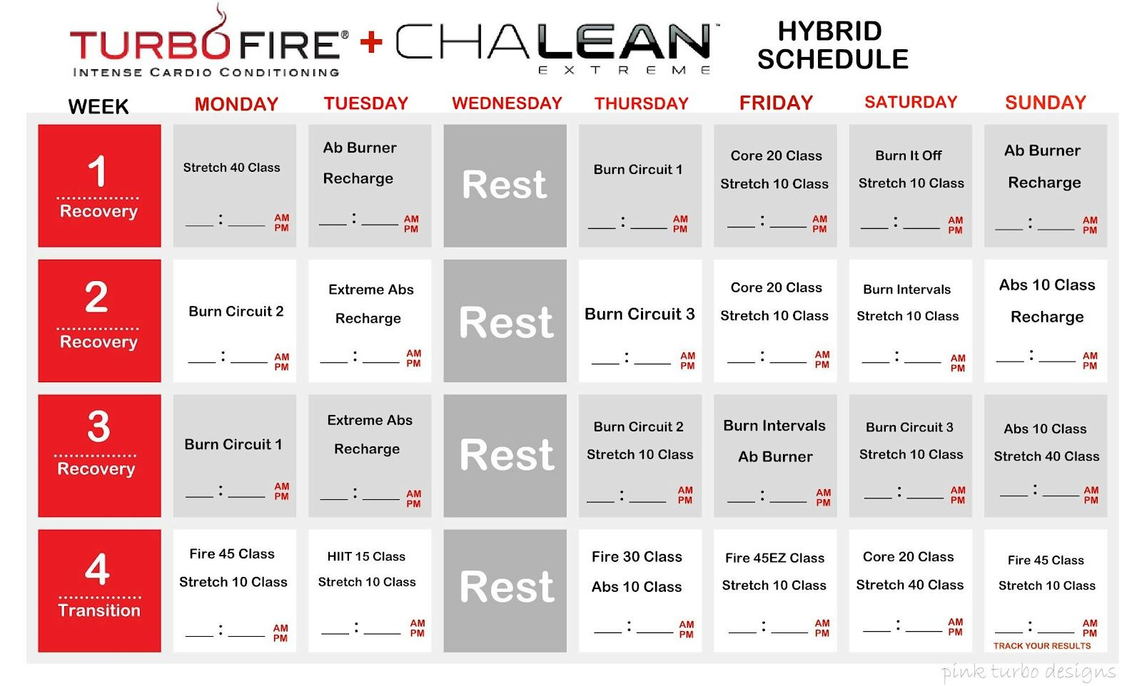 Committed To Fit Chalean Extreme Amp Turbo Fire Hybrid