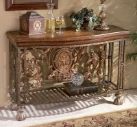 Tuscan tuscany old world decor iron scroll entry hall ...