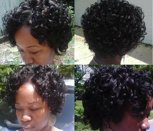 Flexi Rod Hairstyle On Relaxed Hair Relaxed Hair Twists And