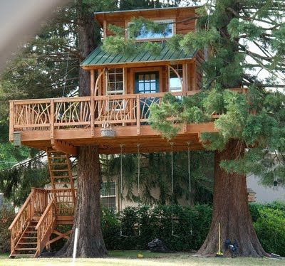 My Absolute Favorite Tree House Of All Times! It Has Swings